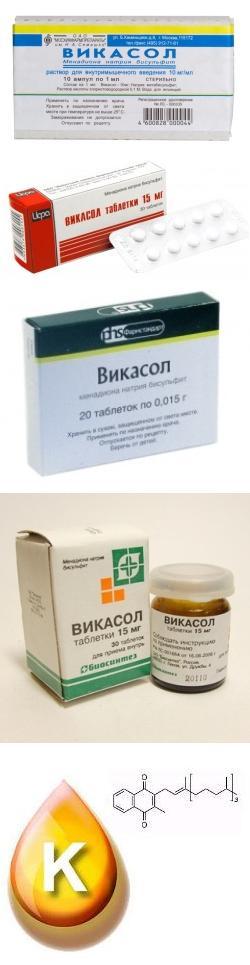 От чего таблетки викасол инструкция по применению